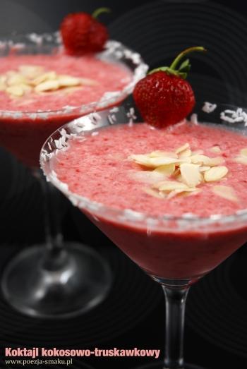 Koktajl kokosowo-truskawkowy