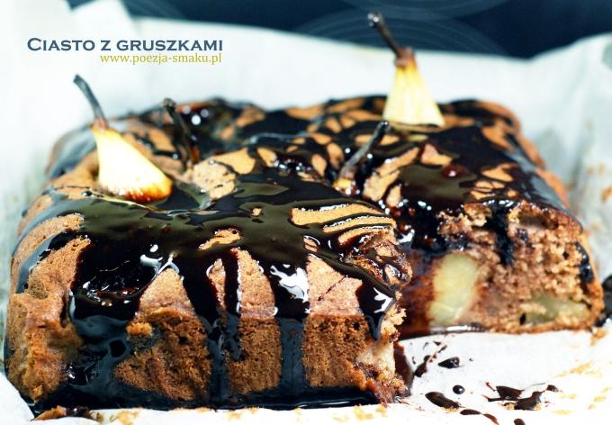 Ciasto z gruszkami i imbirem