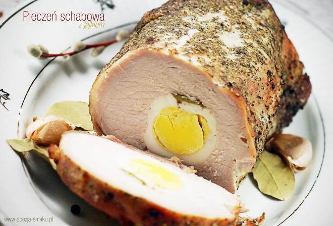 Pieczeń schabowa z jajkiem