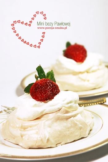 Mini bezy Pawłowej - deser na Walentynki