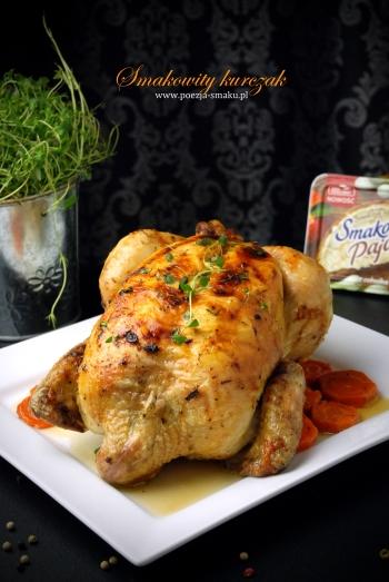 Pieczony w całości kurczak faszerowany
