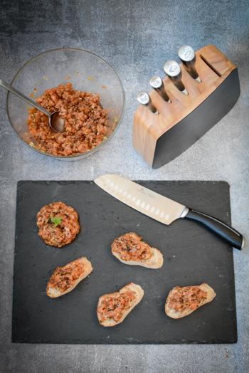 Test noży Gerlach Loft i tatar z łososia