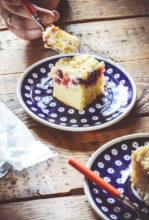 Ciasto z owocami i serem