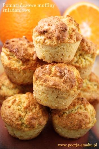 Pomarańczowe muffiny śniadaniowe