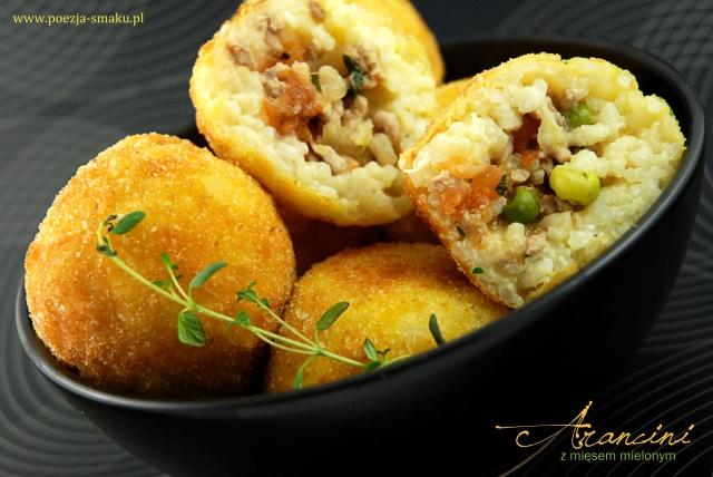 Arancini - ryżowe kulowe z mięsem