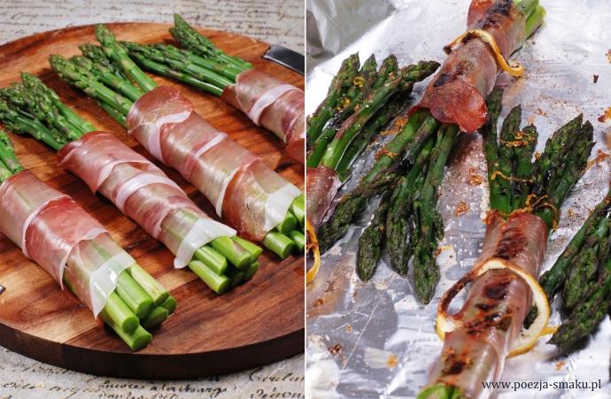 Pieczone szparagi