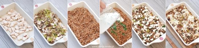 Zapiekanka z kasza gryczana i kurczakiem - przygotowanie