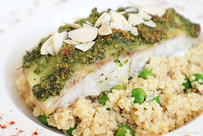 Ryba zapiekana z pesto