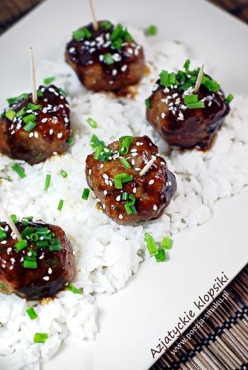 Azjatyckie klopsiki w sosie hoisin