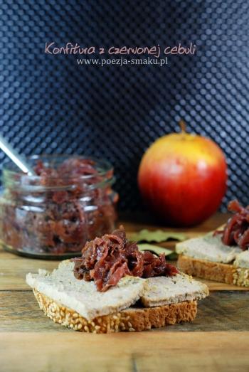 Konfitura z czerwonej cebuli i jabłek