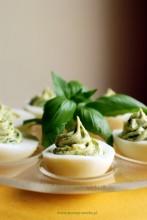 Jajka bazyliowe (faszerowane)