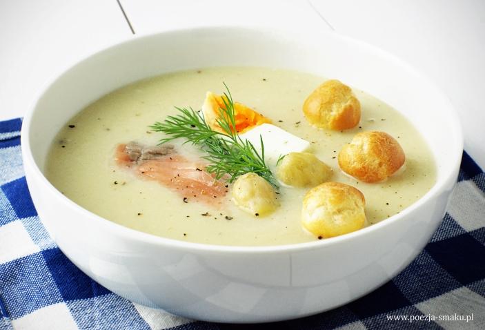 Zupa Krem Z Bialych Szparagow Z Lososiem Poezja Smaku