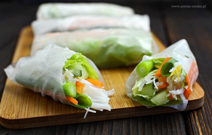Spring rollsy z warzywami