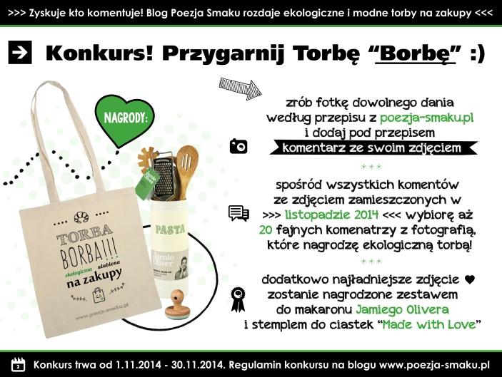 Konkurs - wygraj ekologiczną torbę borbę z Poezją Smaku