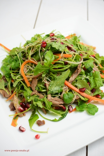Azjatycka sałatka z kaczką
