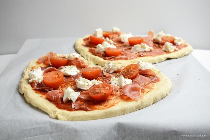 Pizza romantica z ricottą