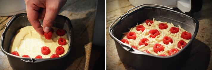 Philips Airfryer - ciasto migdałowe z malinami