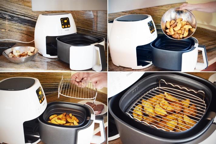 Philips Airfryer - steki z pieczonymi ziemniakami
