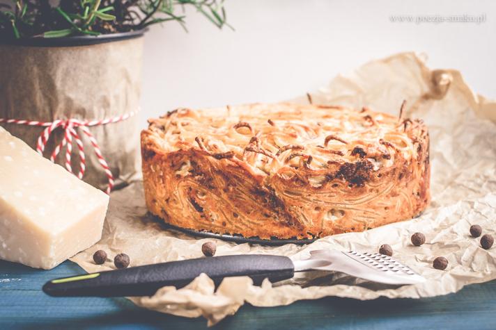 Carbonara z piekarnika - tort carbonara, carbonara pieczona