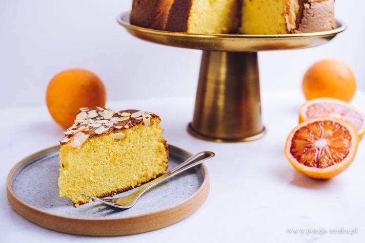 Ciasto pomarańczowe z gotowanych pomarańczy