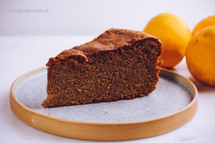 Ciasto czekoladowe z gotowanymi pomarańczami