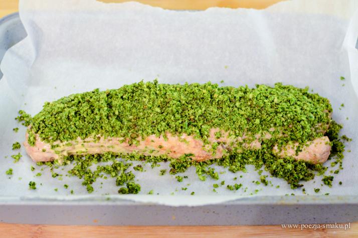 Polędwiczka pod zieloną kruszonką