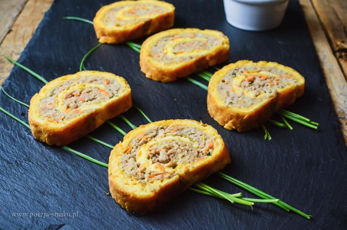 Roladka mięsno-serowa (roladka z mięsa mielonego)