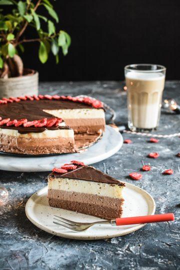 Sernik latte macchiato - potrójnie czekoladowy