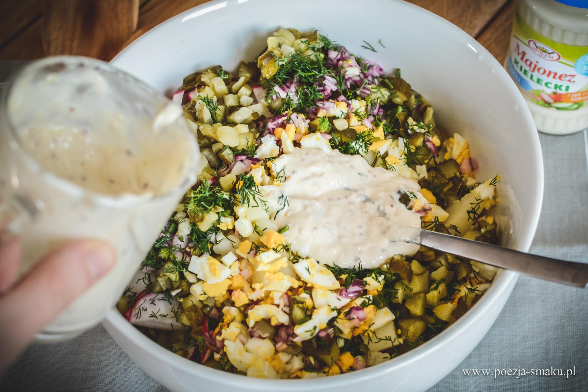Grillowa sałatka ziemniaczana