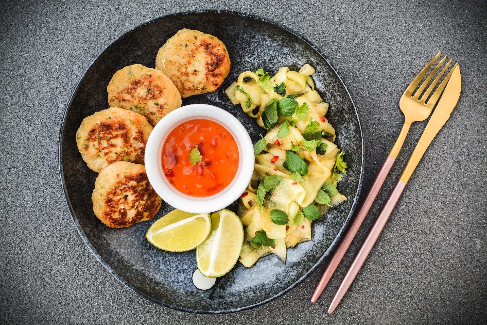Tajskie kotleciki rybne - zdrowe i lekkie kotlety z ryby