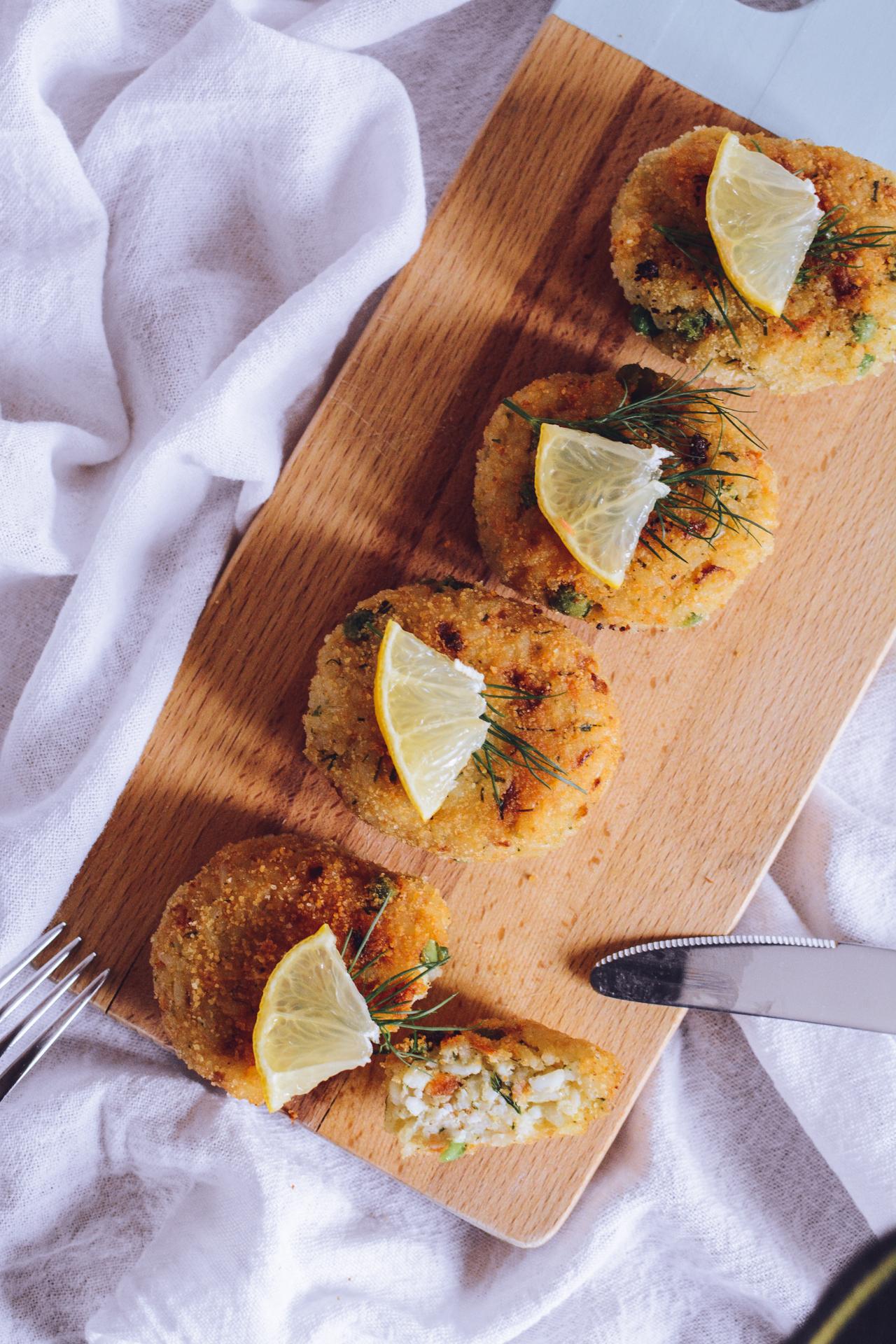 Kotleciki ryżowe z łososiem