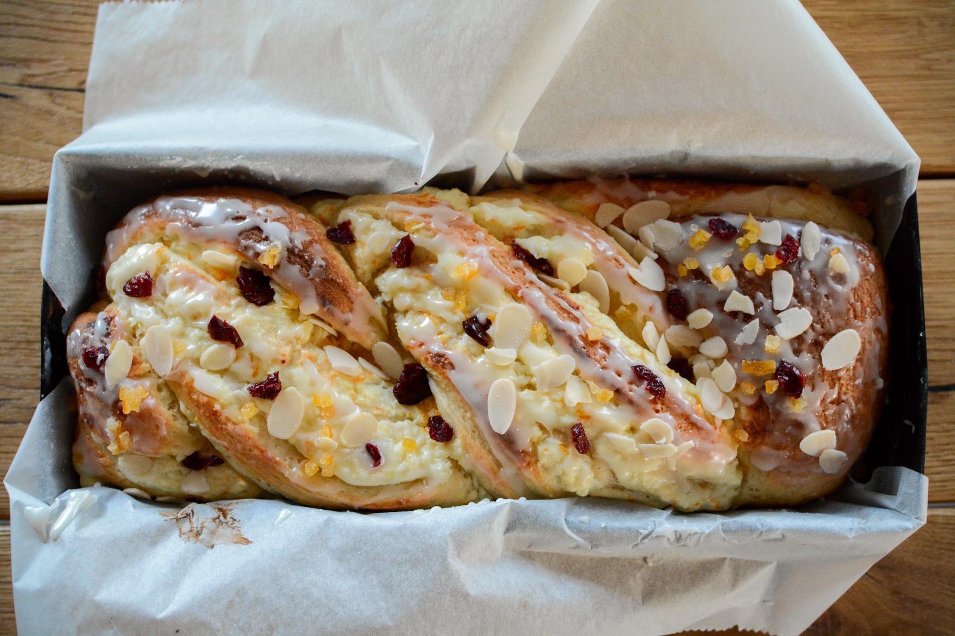 Drożdżówka z serem - strucla serowa 5