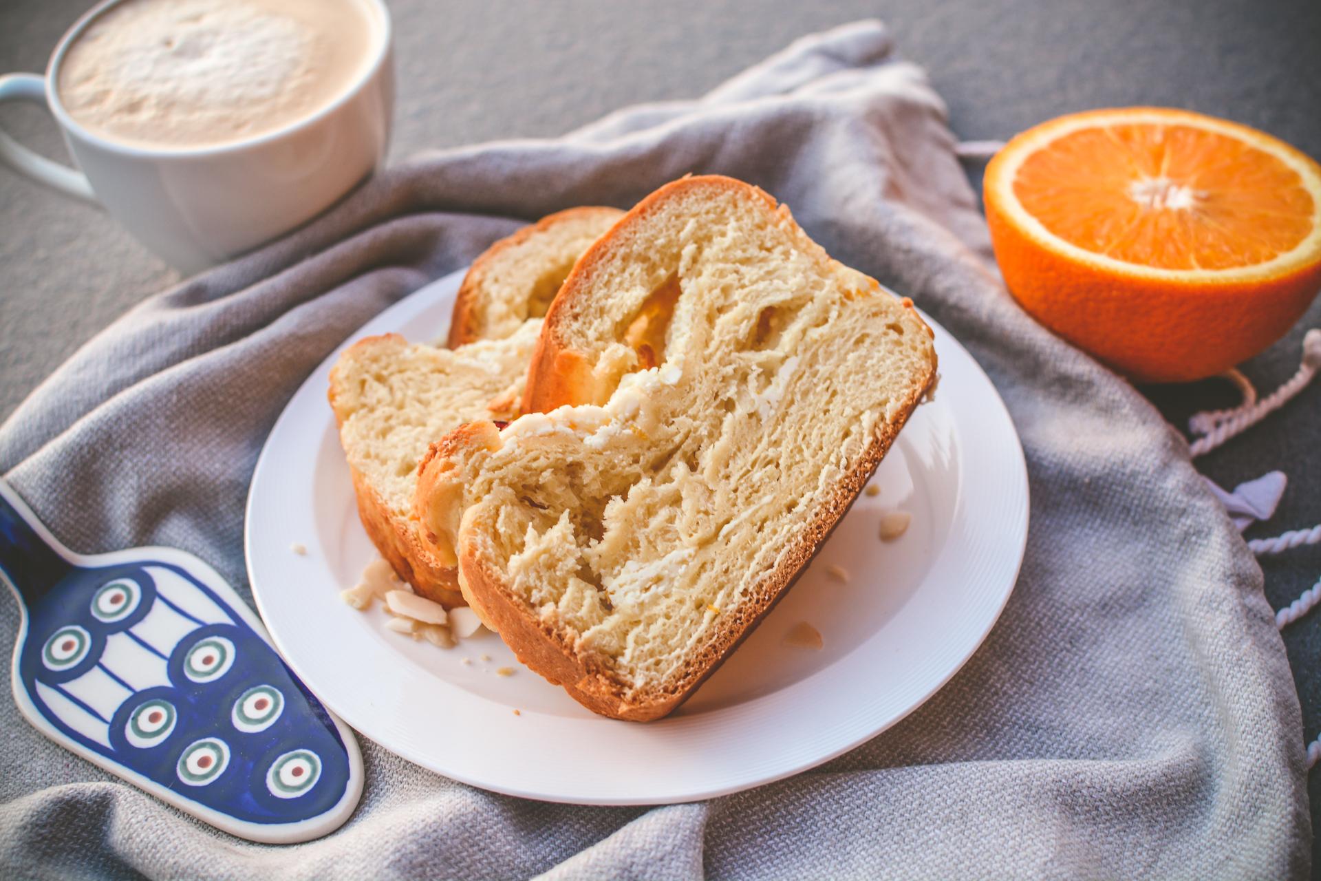 Drożdżówka z serem - strucla serowa 8