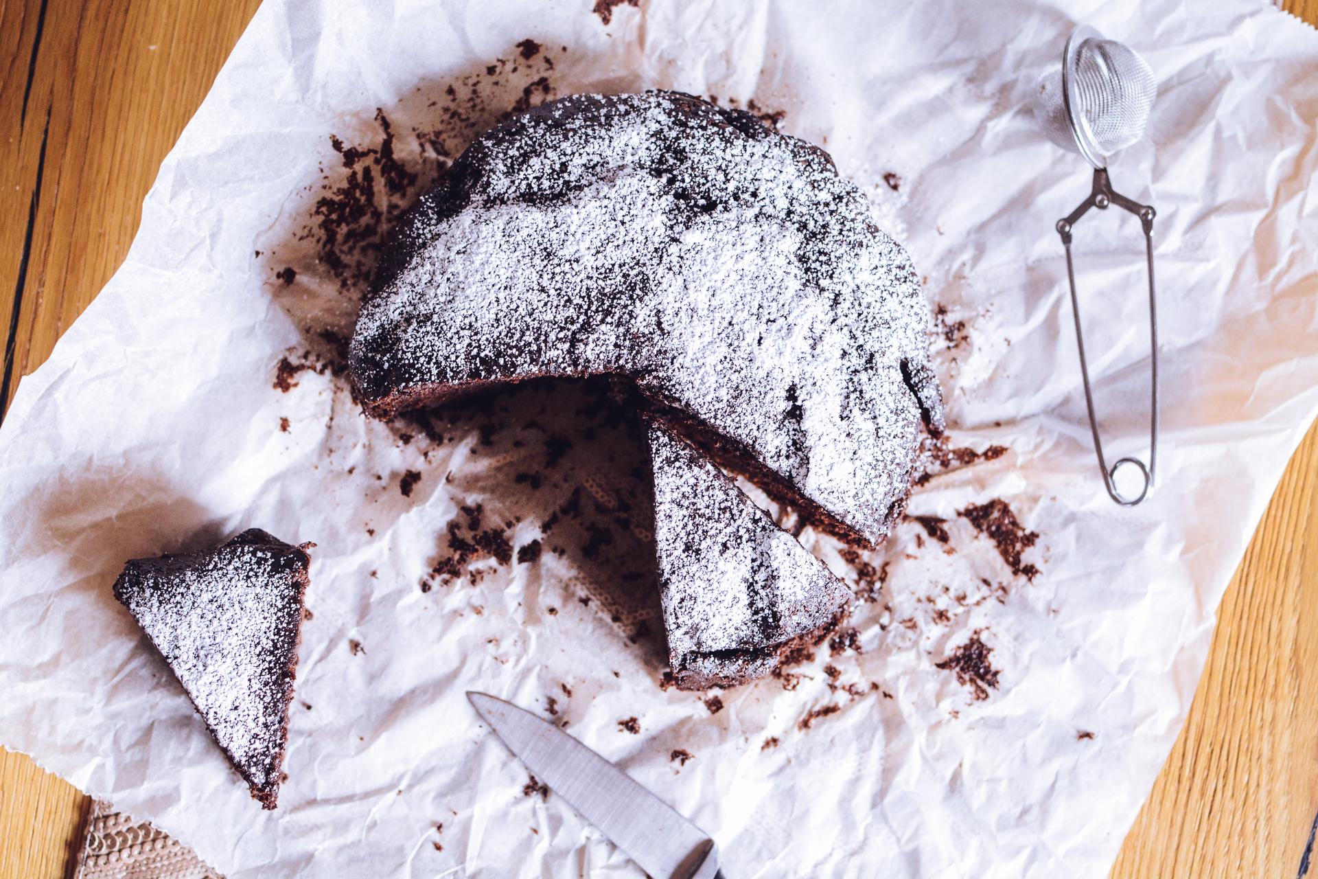 Wegańskie ciasto czekoladowe - bez nabiału, bez jajek 3