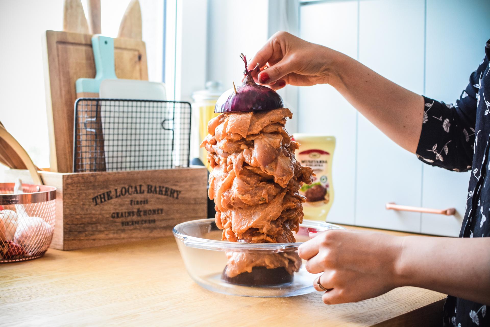 Gyros z kurczaka - domowy kebab z piekarnika - wieża