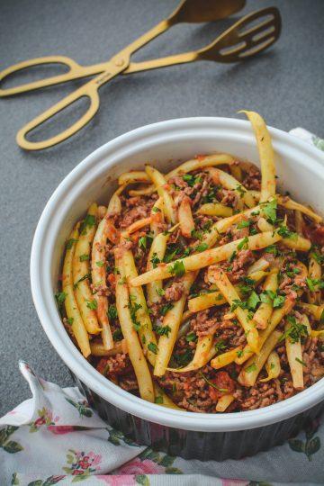 Fasolka szparagowa z mięsem mielonym 2