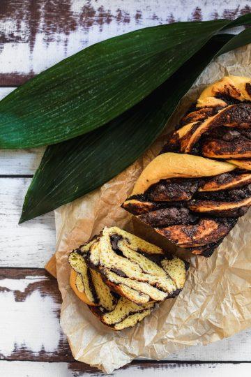 Strucla czekoladowa - drożdżówka z czekoladą