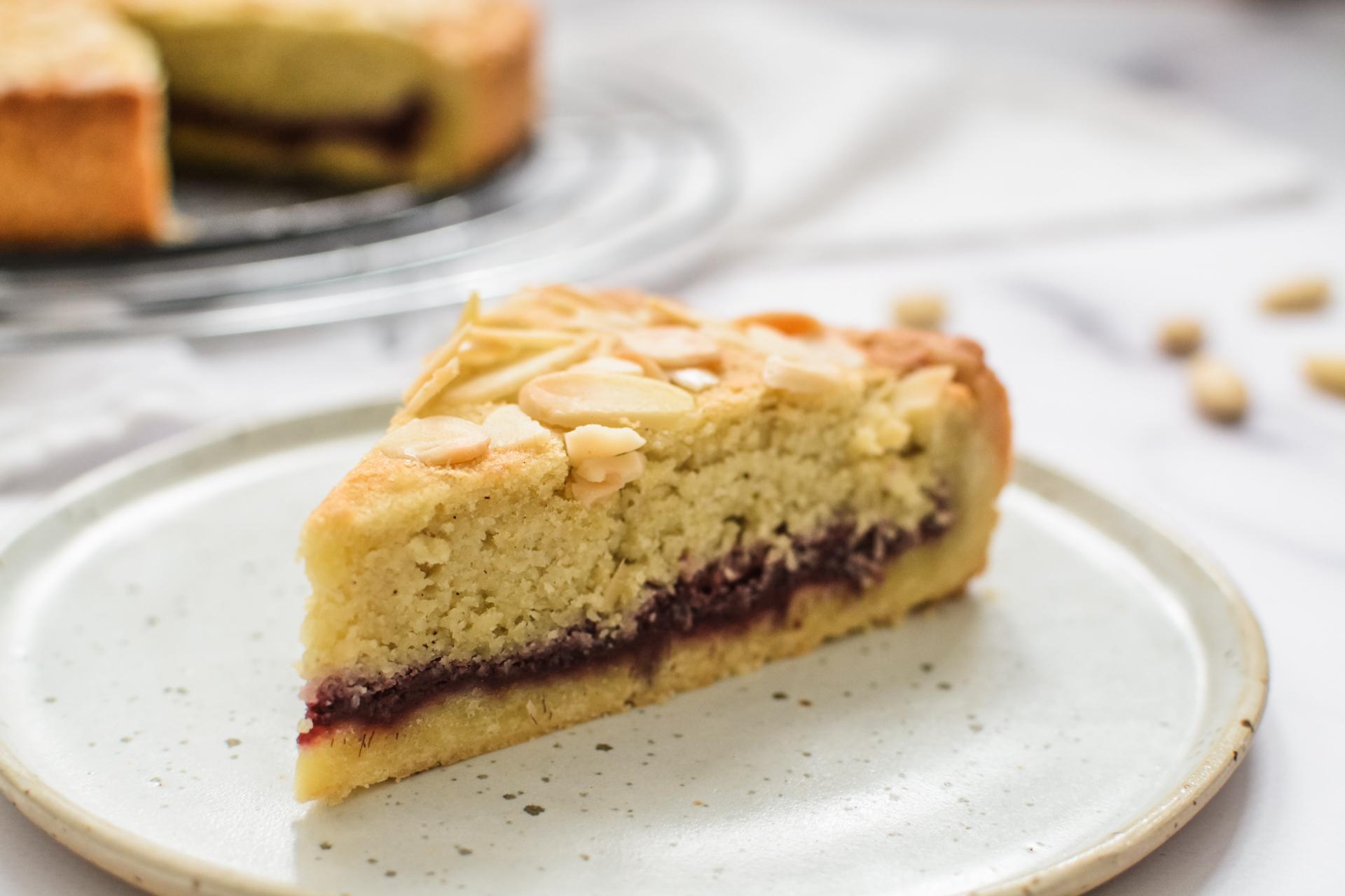 Tarta Bakewell - migdałowy mazurek 4