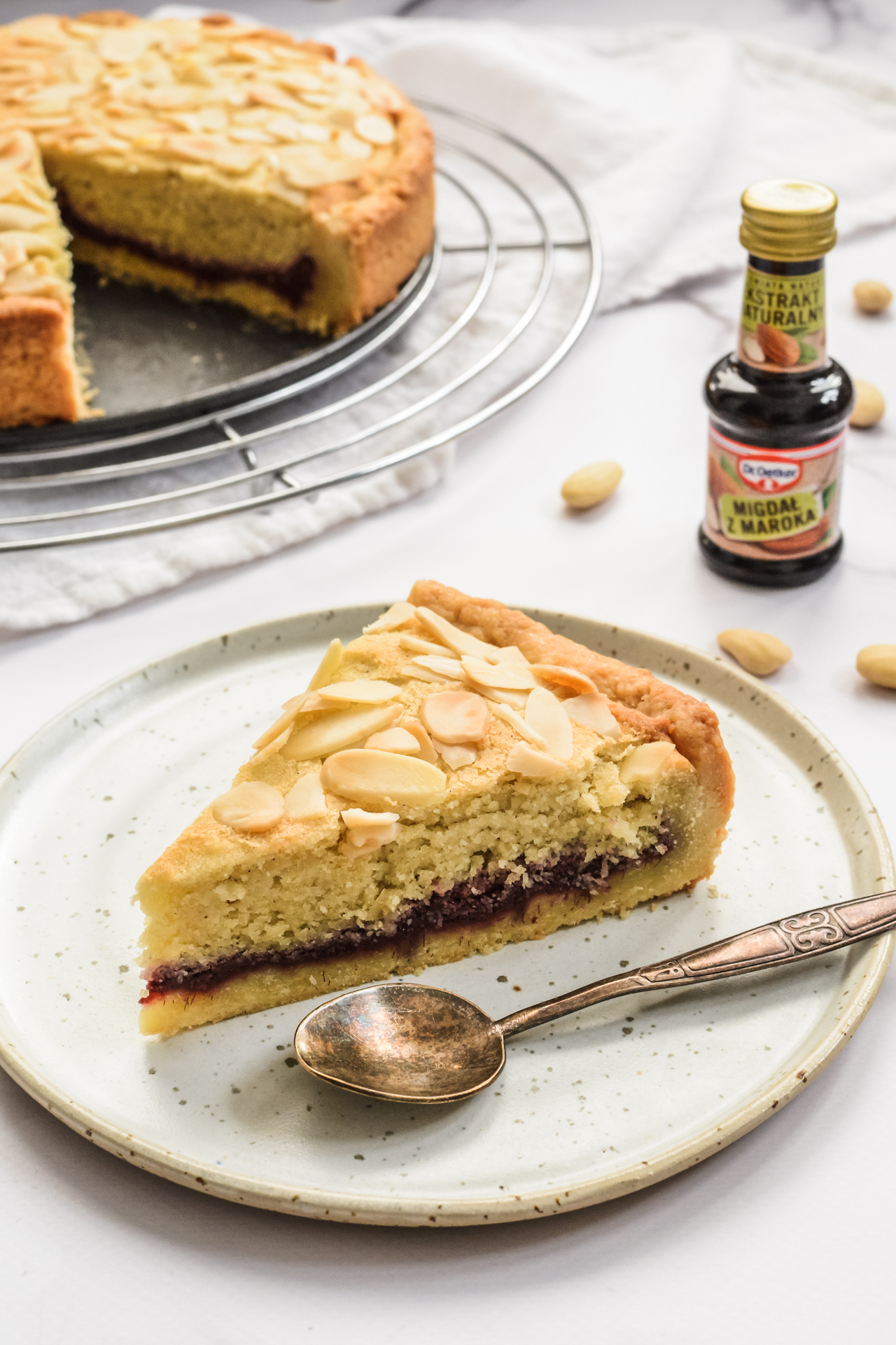 Tarta Bakewell - migdałowy mazurek 1